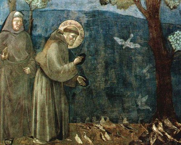 Questa immagine ha l'attributo alt vuoto; il nome del file è San-Francesco-predica-uccelli.jpg