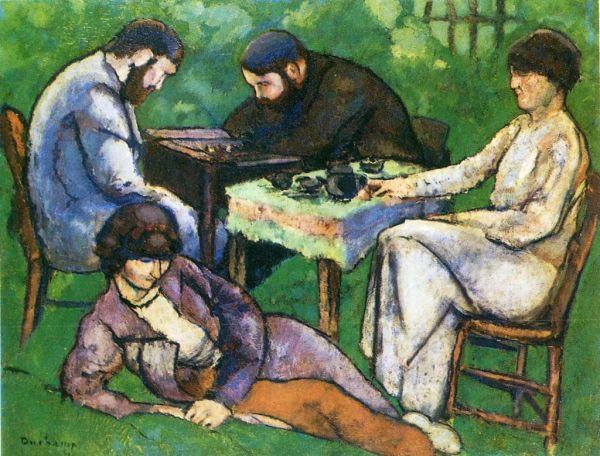 Questa immagine ha l'attributo alt vuoto; il nome del file è Marcel-Duchamp-I-giocatori-di-scacchi-1910.-Philadelphia-Museum-of-Art.jpg